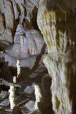Stalagmite, Scarisoara-Höhle, Apuseni-Berge, Rumänien Stockfoto