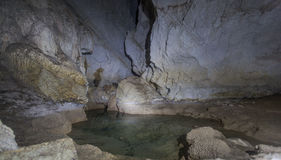 Stalagmites de caverne Photo libre de droits