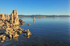 Stalagmites del lago del tufo fotografia stock libera da diritti