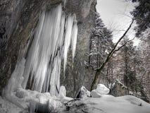 Stalagmites do gelo Fotografia de Stock