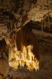Stalagmites e stalactites fotografia stock