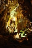 Stalagmites en caverne en pierre Photo libre de droits