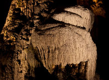Stalagmites and flowstone in a cave Royalty Free Stock Images