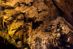 Stalagmites in grotto Stock Photos