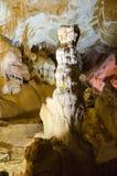 stalagmites Marmeren hol crimea royalty-vrije stock foto