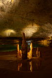 Stalagmites and stalactites Stock Photo