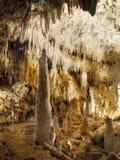 Stalagmites Stalactites Cave. Cave lake, stalagmites and stalactites scene. The Demanovska Liberty Cave. Slovakia royalty free stock photos