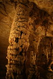 Stalagmites & Stalactites. Stalagmite and Stalactite formations in a cavern in Texas Stock Images