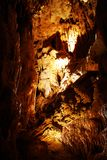 Stalagmites in stone cave Stock Image