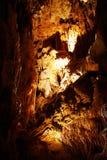 Stalagmites in stone cave Stock Image