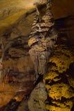 Stalagmits en gruta Fotografía de archivo