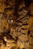 Stalagmits en gruta Foto de archivo libre de regalías