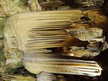 Stalagtites, Luray洞穴 库存照片