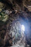 Stalaktit in der Höhle Stockfotografie