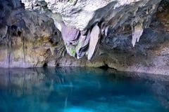"""Stalaktit i grottan för """"ThreeEyes† Royaltyfria Bilder"""
