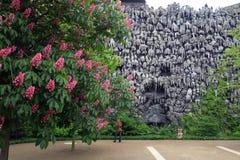Stalaktiten auf einer Wand am Wallenstein-Garten Stockfoto