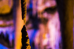 Stalaktitstalagmithöhle Stockbild