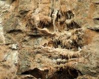 Stalattiti Roccia naturale Fotografia Stock