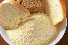 Stale bread and finely ground breadcrumbs Stock Photography