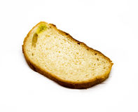 Stale white loaf, is isolated, for a background. Royalty Free Stock Photography