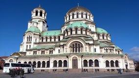 StAlexander Nevsky domkyrka i Sofia, Bulgarien arkivfoto