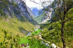 Stalheimvallei, Noorwegen Stock Afbeeldingen