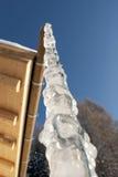stali łańcuszkowa zimna marznąca woda Obraz Royalty Free