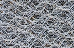 stali drucianego ogrodzenia żelazna surowa tekstura w magazynie Obrazy Stock