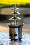 Stali nierdzewnej czekolady fontanna Fotografia Stock