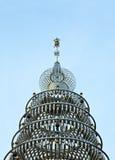 Stali Nierdzewnej pagoda przy stali nierdzewnej świątynią, Thail Zdjęcie Royalty Free