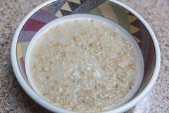 Stali rżnięty oatmeal dla śniadania Obraz Royalty Free