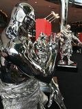 Stali rzeźby Ren Zhe w Hong Kong Fotografia Stock
