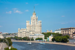 Stalin building on Kotelnichesky quay in Moscow Royalty Free Stock Images