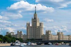 Stalin drapacz chmur w Moskwa fotografia stock