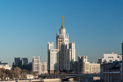 Stalin-era building on Kotelnicheskaya Embankment Moscow, Russia Royalty Free Stock Photography