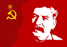Stalin on red Royalty Free Stock Photo