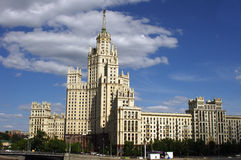 Stalin's building in Moscow, Russi Stock Images