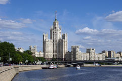 Stalin's building in Moscow, Russia. Stalin's building on Kotelnicheskaya embankment in Moscow, Russia Stock Photo