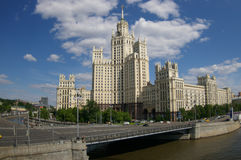 Stalin's building in Moscow, Russia Royalty Free Stock Photo