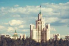 Stalin ` s drapacz chmur na Kotelnicheskaya bulwarze Moskwa Rosja Fotografia Stock