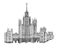 Stalin ` s drapacz chmur na Kudrinskaya obraz royalty free