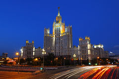 Stalin's Empire style building. Royalty Free Stock Photo