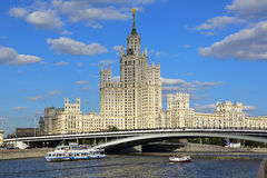Stalin's Empire style building. Royalty Free Stock Photography