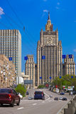 Stalin's famous skyscraper Ministry of Foreign Affairs of Russia Royalty Free Stock Image