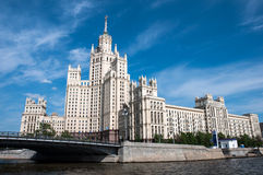 Stalin's house in Moscow, landmark Royalty Free Stock Photography