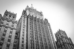 Stalin`s skyscrapers of the 50th century. stock images