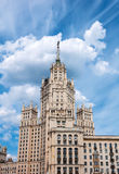 Stalin skyscraper on  waterfront in Moscow, Russia Royalty Free Stock Images