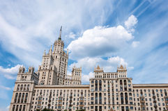 Stalin skyscraper on  waterfront in Moscow, Russia Stock Photo