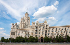 Stalin skyscraper on  waterfront in Moscow, Russia Royalty Free Stock Image