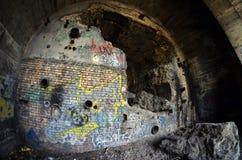 stalin stary tunel kreskowy Kiev betonowy obrończy malorussia wymieniał część podwodny czas dzisiaj Ukraine ww2 Obrazy Stock